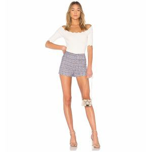 Milly High Waist Trudee Short in Plaid